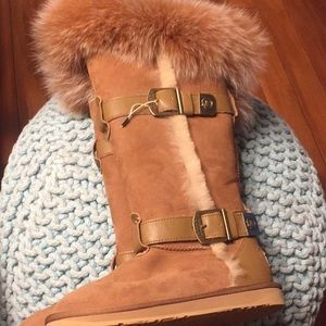 Australia Luxe Collective Fox Fur&Shearling Boots